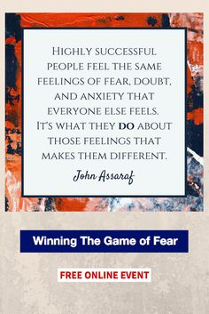 John Assaraf - Winning The Game of Fear: free webinar / #entrepreneurs / http://talentdevelop.com/JAWTGFp