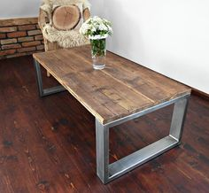 Handmade Rustic Reclaimed Wood & Steel Industrial by MadeFromWoodd