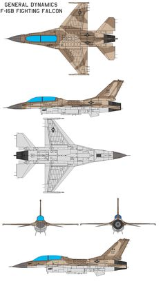 GENERAL DYNAMICS F-16B by bagera3005.deviantart.com on @deviantART