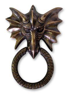 Dragon Door Knocker in Antique Copper