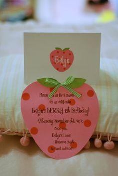 10 Strawberry Shortcake Birthday  Invitations by Palm Beach