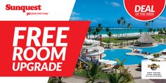 FREE Room Upgrade at select Hard Rock Hotel properties. http://www.sunquest.ca/en/hard-rock-resorts-deals #TravelDeals