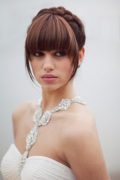 1000 Images About Wedding Hair With A Fringe On