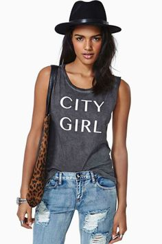 Project Social T City Girl Tank