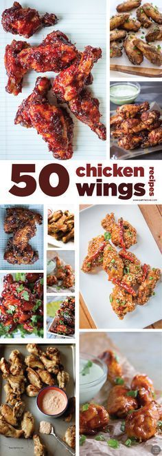 50 Chicken Wings Recipes! A Roundup by Irvin Lin of Eat the Love.                                                                                                                                                                                 More