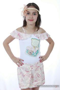 Conjunto Saia e Blusa Diforini Moda Infanto Juvenil 121259