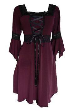Dare To Wear Victorian Gothic Women's Plus Size Renaissance Corset Dress Burgundy S Dare to Wear,http://www.amazon.com/dp/B00EZR2JDU/ref=cm_sw_r_pi_dp_YvTBtb00CM9G71CS