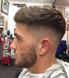 hairstyles - To schedule an appointment hit the link in my bio, thanks Styled by blowdrying in a small amount of Matt Pomade menshair barber barbering barbergang barberlife ukbarber ukbarbers barberuk britishbarber skinfade crop Mens Hairstyles Fade, Cool Hairstyles For Men, Hairstyles Haircuts, Haircuts For Men, Men Hairstyle Short, Men Haircut Short, Mens Fade Haircut, Barber Haircuts, Crop Haircut