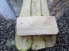 Canelones de calabacín, jamón y queso,receta dieta,verdura,cocina tradicional