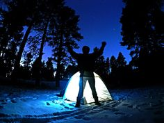 Survived a night camping in a tent in -2f (-19c) at the base of Mt Humphreys in Flagstaff AZ 11/29/16