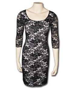 KARTO cocktailkjole i sort blonde - Køb kjoler online hos KARTO også i store størrelser