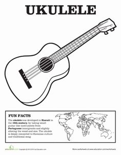 This website has free coloring pages for flute piano guitar
