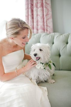 we kind of want to steal this fur baby  Photography By / jnicholsphoto.com, Wedding   Floral Design   Stationery By / thenouveauromantics.com