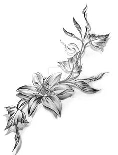 Dying Flowers Tattoo images