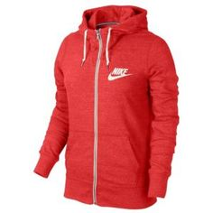 25801fc47c72 Nike Gym Vintage Full Zip Hoodie - Women s - Casual - Clothing - Fusion Red