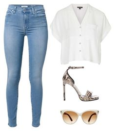 """Untitled #1650"" by twerkinonmaz ❤ liked on Polyvore featuring Topshop, 7 For All Mankind, Yves Saint Laurent and Tom Ford"