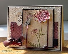 Eileen LeFevre's beautiful creation using Stampin' Up! Field Flowers and Nature Walk.  To buy these and other Stampin' Up! products check out my web site at http://creating_smiles.stampinup.net/