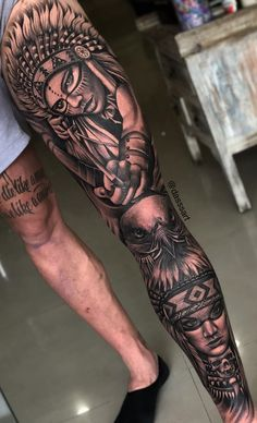 Full leg front side on brother thx So much for time that you spend to get all done with me. Wolf Tattoos, Life Tattoos, Black Tattoos, Tribal Tattoos, Tattoos For Guys, Tatoos, Leg Sleeve Tattoo, Leg Tattoo Men, Tattoo Sleeve Designs