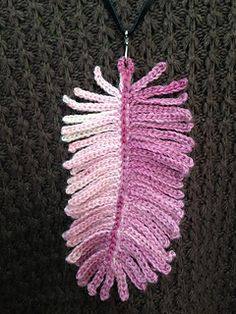 I first saw this pendant in the Creative Crochet Crew – The Group.  This is also a pretty piece of Irish Crochet Lace