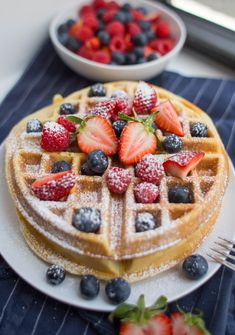 finished Belgian Waffle Recipe with powdered sugar Belgian waffles are such a classic weekend breakfast. Grab a few pantry items and make these with this easy, fail-proof Belgian Waffle Recipe. Easy Belgian Waffle Recipe, Easy Waffle Recipe, Waffle Recipes, Brunch Recipes, Sweet Recipes, Breakfast Recipes, Dessert Recipes, Sweet Breakfast, Waffle Recipe Yeast