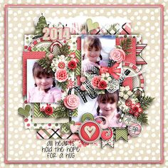 Holiday Hearts and Hugs layout by Stellamarie using Holiday Hearts & Hugs Kit