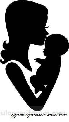 images Mom and Baby Forehead Kiss Silhouette Vinyl Decal Mothers Day Drawings, Mothers Day Gif, Mothers Day Crafts, Wall Painting Decor, Painting On Wood, Meninos Country, Image Mom, Butterfly Outline, Forehead Kisses