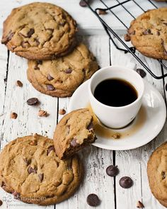 cinnamon espresso chocolate chip cookies