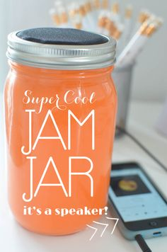 This Mason Jar Speaker is amazing!  You have to see how cute it is and get in on the ground floor! #jamjar