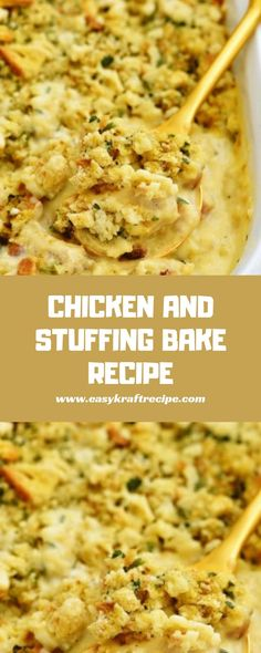 Chicken and stuffing bake chicken meals, chicken recipes, stuffing, f Baked Chicken Recipes, Beef Recipes, Vegetarian Recipes, Cooking Recipes, Chicken Meals, Italian Recipes, Mexican Food Recipes, Good Food, Yummy Food