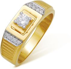 Nikhil Gold Diamond Ring Made in Real Diamond and 18kt Gold.Customize as Per your style and Budget.Get Exact Diamond Quality and weight.