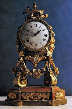 Louis XVI ormolu night clock