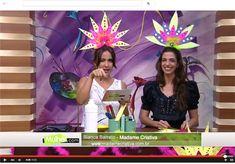 Bianca Barreto ensina a fazer tiaras para o Carnaval no Programa da Tatiane Camargo, TV Rede Século 21 - Fantasia de Carnaval barata e fácil de Fazer - Artesanato mulher.com - Mardi Gras Headpiece