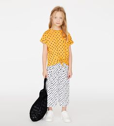 PLEATED POLKA-DOT PANTS - Item available in more colors