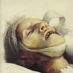 Artist's Dead Mother  (C) TLF Words Of Comfort, Small Paintings, Great Artists, Gallery, Barbican, Bibliophile, Darkness, Shadows, Death