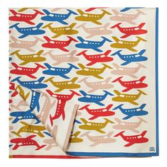 Orla Kiely: Silk twill scarf with hand rolled edges.