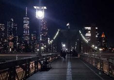 A windy stroll across the Brooklyn Bridge. City Lights, Brooklyn Bridge, New York City, Roses, Nyc, Photo And Video, Landscape, Street, Inspiration