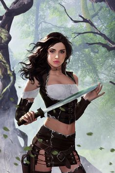 f Rogue Thief Leather Armor Shortsword Bandit Deciduous Forest Hills road hideout story ArtStation Hannah by Caterina Kalymniou med Fantasy Warrior, Fantasy Girl, Chica Fantasy, Fantasy Art Women, Warrior Girl, Fantasy Artwork, Female Character Design, Character Art, Character Concept