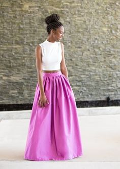 Simple and colourful Maxi Skirts by Melange Mode