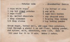 Cooking With Mary and Friends: Irish Chocolate Potato Cake