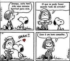 """Peppermint Patty: """"Snoopy, this has been a bad week for me. What can you do when everything seems hopeless?"""" Snoopy: *kiss* Peppermint Patty: """"That's good advice. Snoopy Love, Snoopy And Woodstock, Snoopy Comics, Peanuts Cartoon, Peanuts Snoopy, Peanuts Comics, Snoopy Cartoon, Peanuts Movie, Bad Week"""