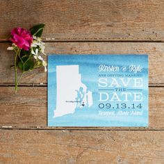 Watercolor Save the Date Rustic Save the Date  by starboardpress