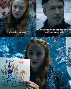 Sansa Stark and Petyr Baelish - Game of thrones funny