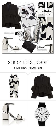 """""""#280) EMBELLISHED SLEEVES NOIRS ET BLANCS"""" by fashion-unit ❤ liked on Polyvore featuring Chicnova Fashion, Rachel Comey, Alexander Wang, Rosendahl and Loeffler Randall"""