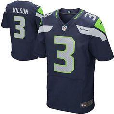 81d46d63cd Russell Wilson Nike Elite NFL football jersey ( Steel blue)