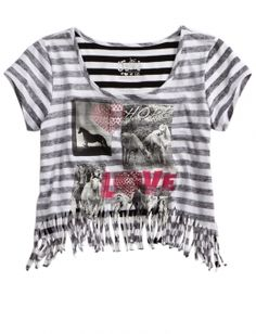 Cute fringe shirt for girls at Justice!