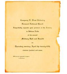 Invitation distressed paper