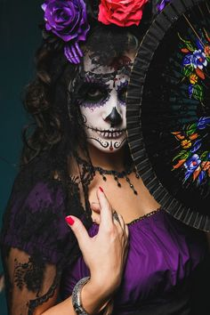 October is here, Halloween is near! Glorious Fronny Ro as Santa Muerte
