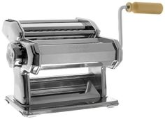 Imperia Pasta Maker Machine (150) By Cucina Pro – Heavy Duty Steel Construction with Easy Lock Dial and Wood Grip Handle  CucinaPro 150 Imperia Pasta Machine   Your Shortcut To Becoming an Overnight Italian Chef Sensation   The Imperia Pasta machine has quickly become the #1 leading homemade pasta maker and with GREAT reasons..   It's well-built, long-lasting, and absolute piece of cake to use and best of all – it makes the most delicious pasta you will ever taste! Some say even bett..