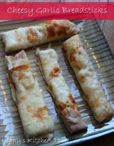 Cheesy Garlic Breadsticks | Kathy's Kitchen Table