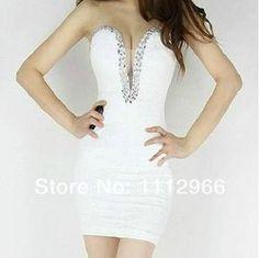 Online Shop 2014 Hot cheap free shipping European and American fashion Slim Sexy Women Bra short tight dress package hip nightclub|Aliexpress Mobile